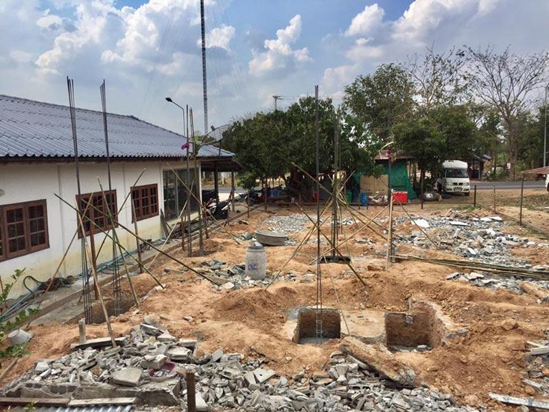 ระหว่างก่อสร้าง บ้านชั้นเดียวสไตล์ไทยประยุกต์