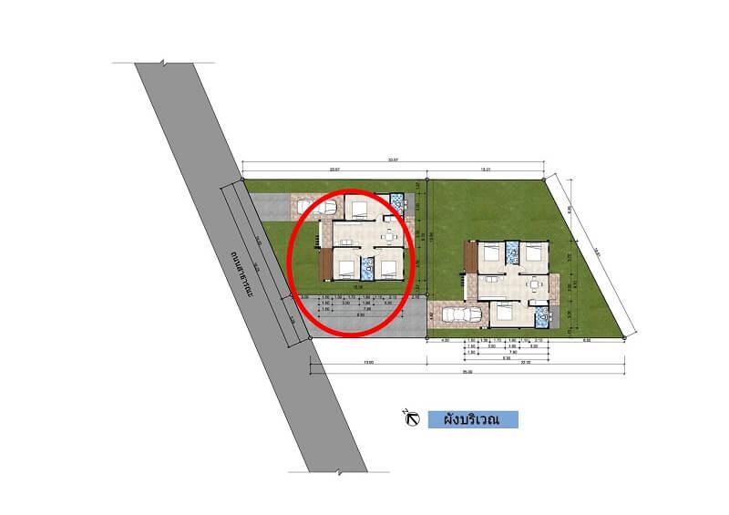 แบบบ้าน บ้านเดี่ยวสไตล์ โมเดิร์น ชั้นเดียว 3 ห้องนอน 2 ห้องน้ำ4