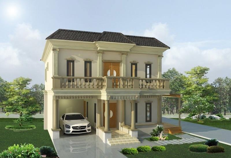แบบ Design บ้านสองชั้นสไตล์ยุโรป งบไม่เกิน 2 ล้าน 2